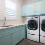 Laundry room with custom cabinetry